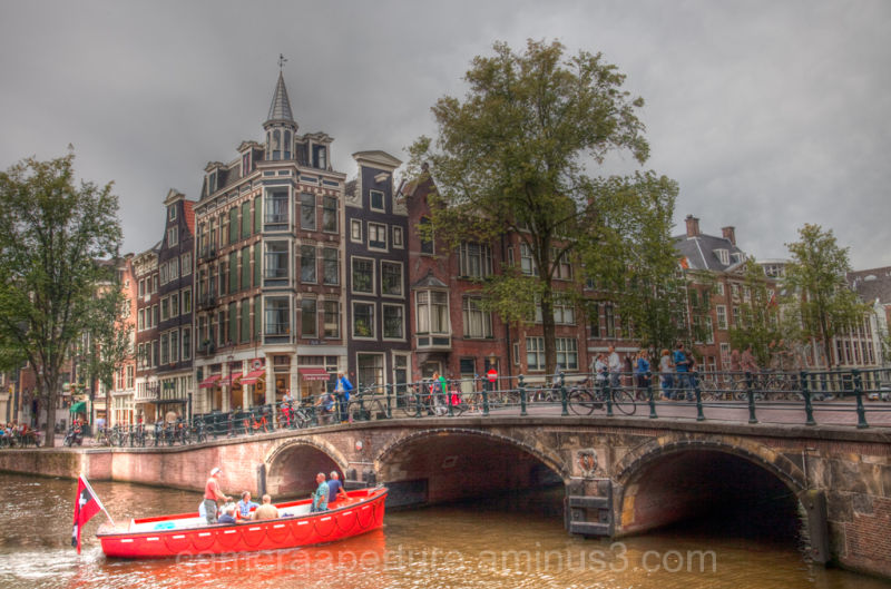 A view of an Amsterdam canal