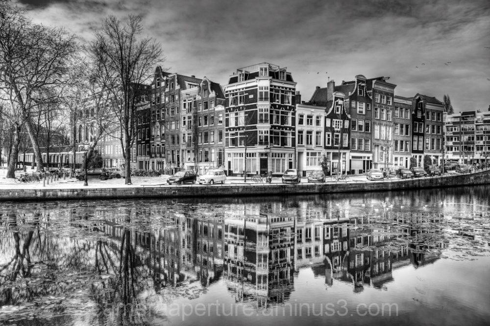 The Nieuwe Herengracht in the city of Amsterdam