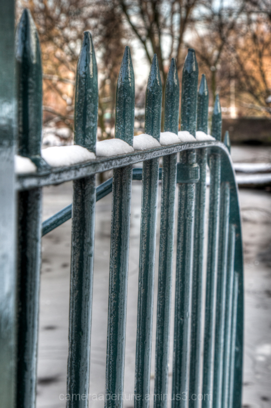 A railing in the city of Amsterdam