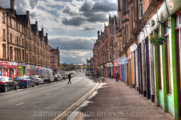 A street in the city of Glasgow