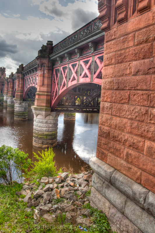 A Bridge pier on the river Clyde in Glasgow