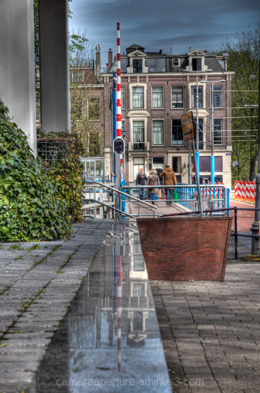 Reflection on a wall in the city of Amsterdam