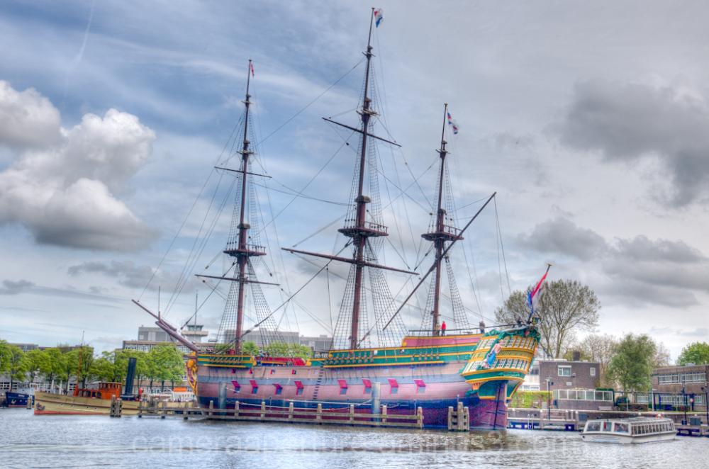 A ship in Amsterdam
