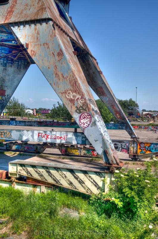 Crane legs in North Amsterdam