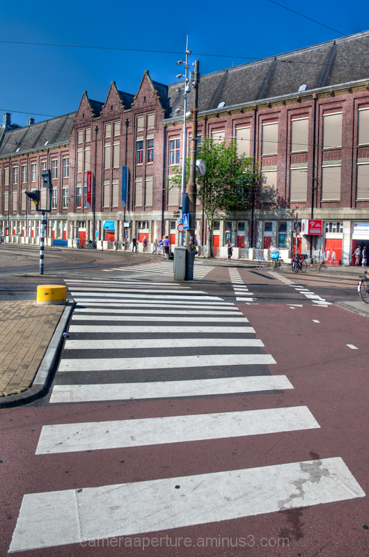 A crossing near CS in the city of Amsterdam