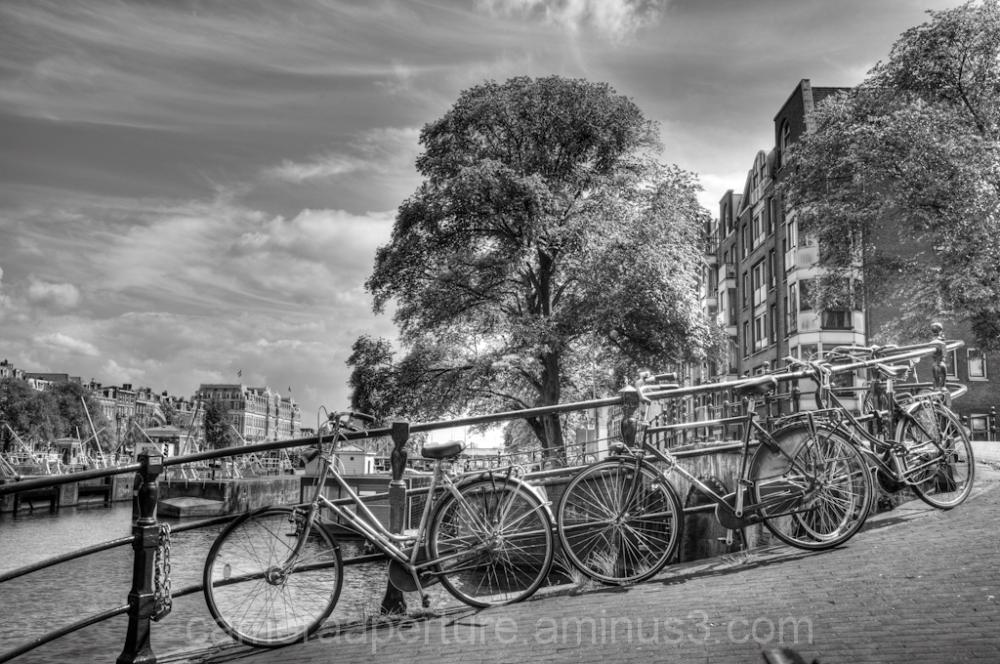 Bikes on the Amsterdam bridge