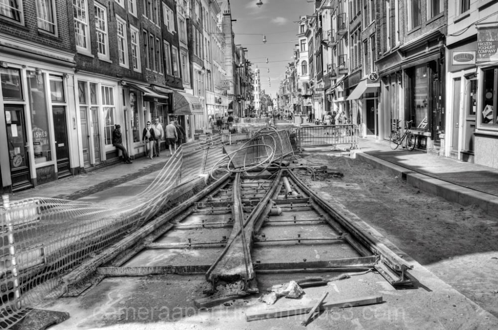 tracks in the city of amsterdam