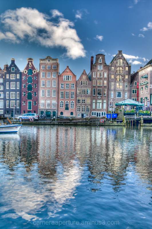 Houses in the city of Amsterdam