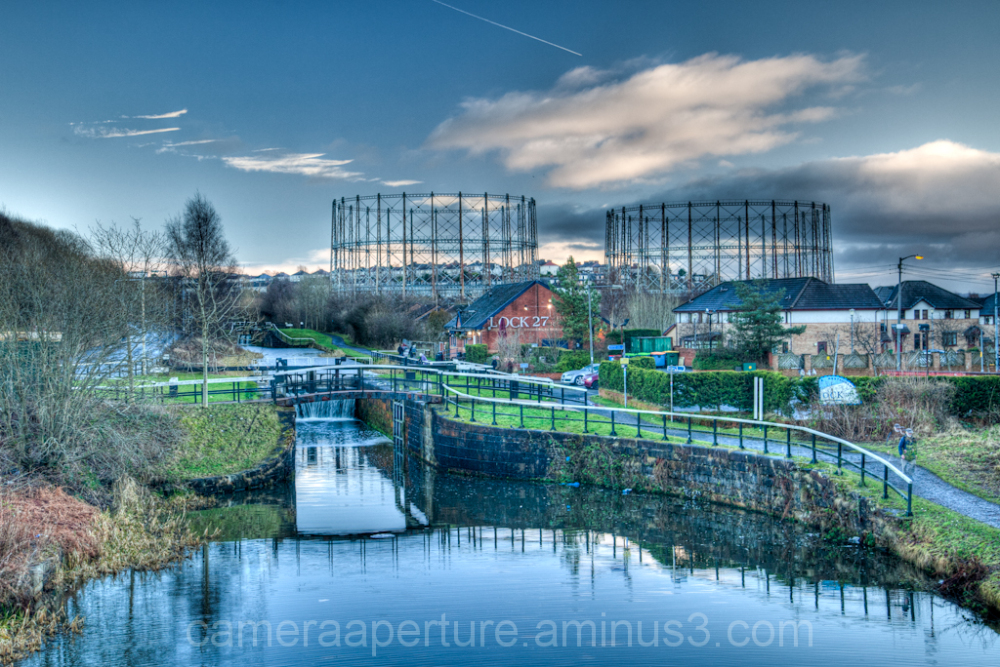 The forth and clyde canal in Glasgow Scotland