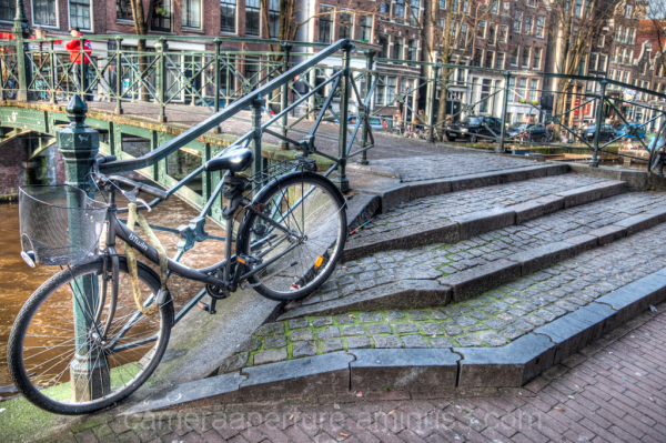 A bike in the city of Amsterdam