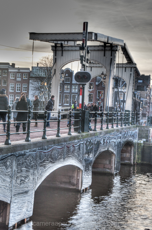 the Magere brug in the city of Amsterdam