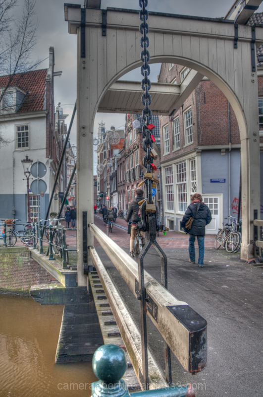 A Swing bridge in the city of Amsterdam