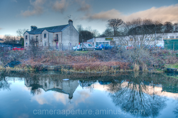 The Forth and Clyde canal in the city of Glasgow