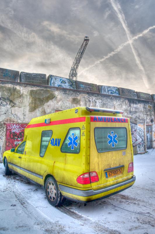 An Ambulance in North Amsterdam