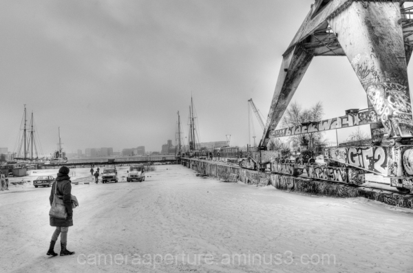 Snow and ice in the city of Amsterdam