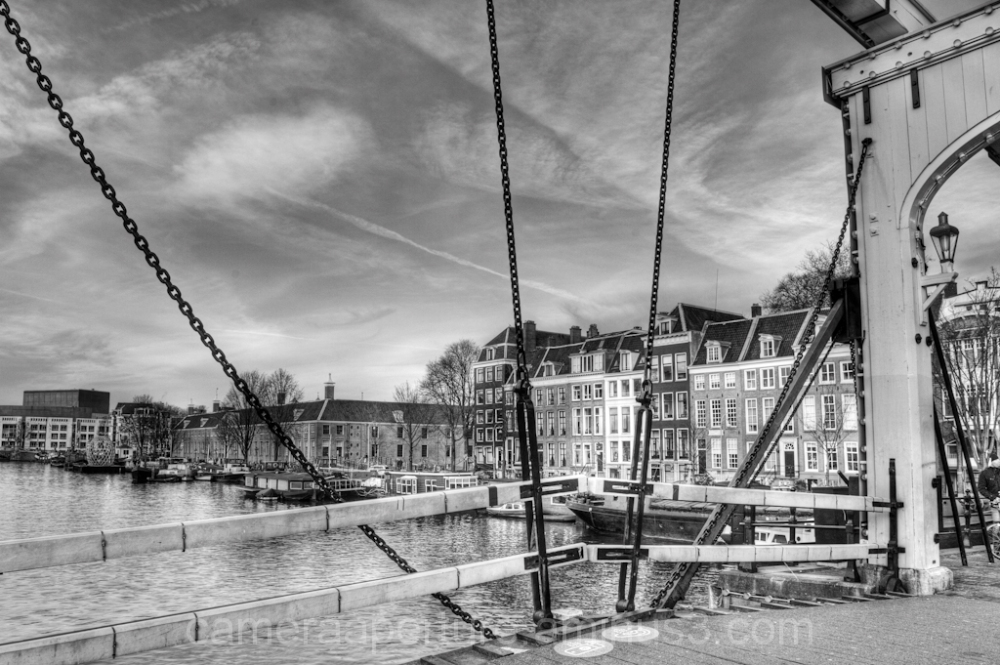 A view of the Amstel river in Amsterdam