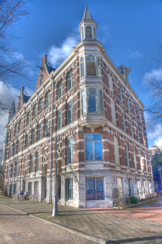 A building in the city of Amsterdam