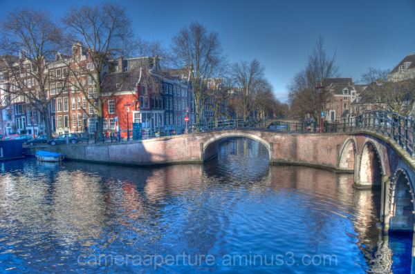 A bridge over an Amsterdam canal