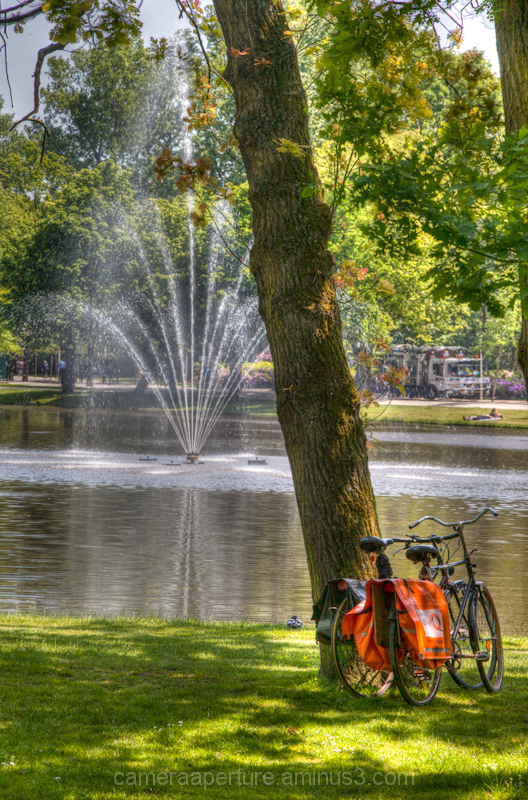 Fountain in the Vondel park, amsteedam