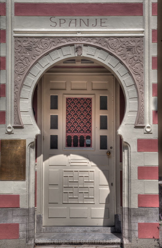 A doorway in the city of Amsterdam