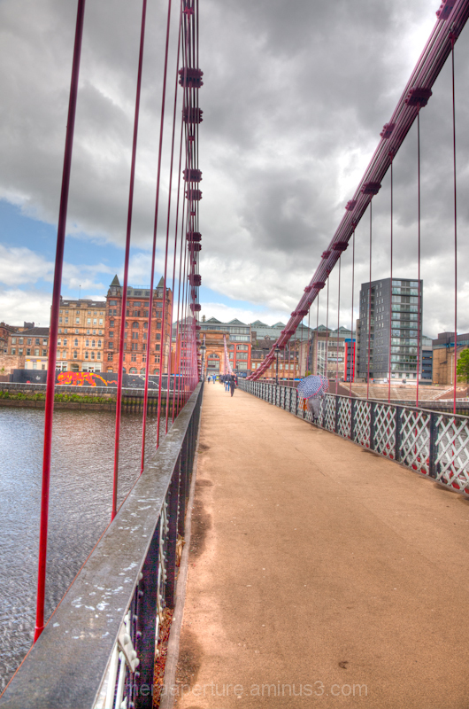 A bridge over the river clyde in Glasgow