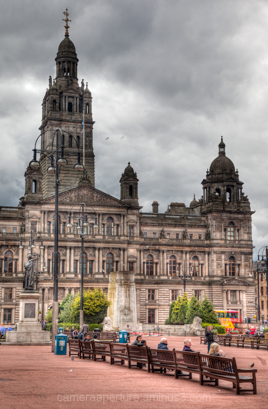 George Square in the city of Glasgow