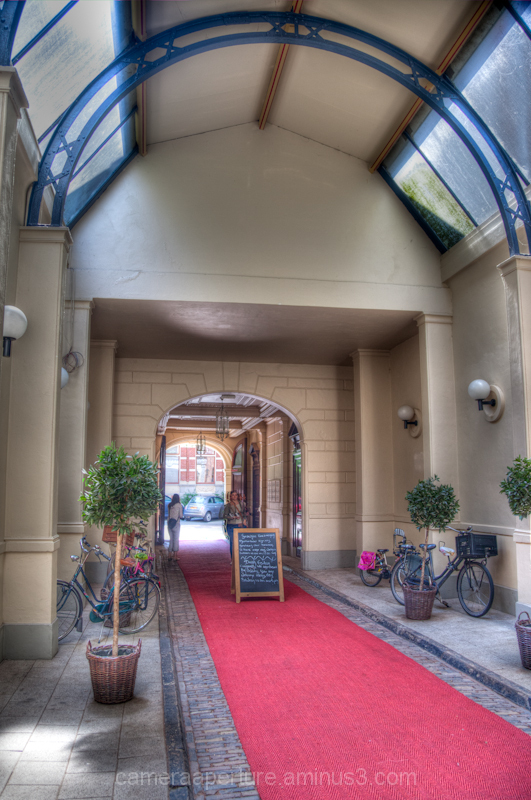 Entrance to the horse stable in the Amsterdam