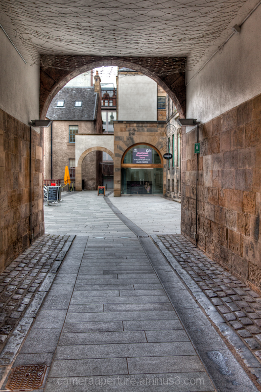 A passage way in the city of Glasgow