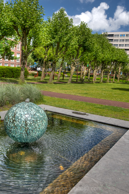A garden in the city of Amsterdam