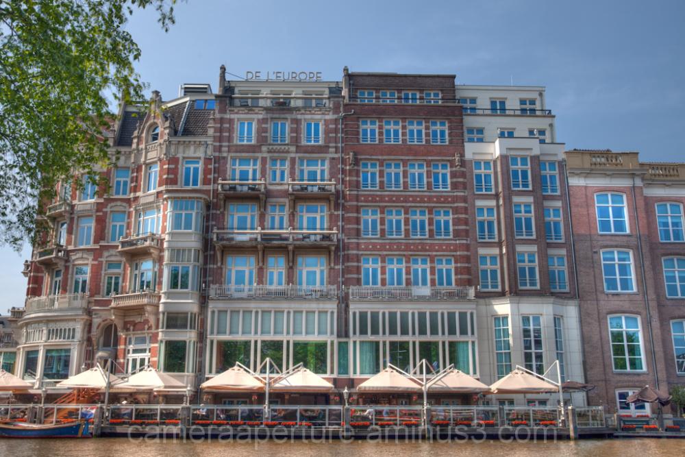 """Hotel on the """"Binnen Amstel"""" in Amsterdam"""