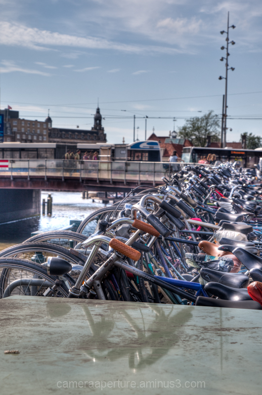 Bikes at centraal station in the city of Amsterdam