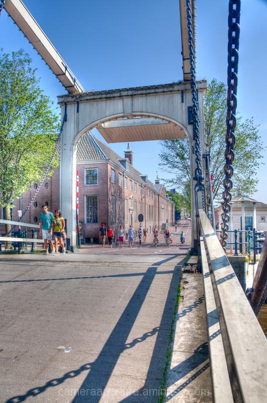 A bridge in the center of Amsterdam