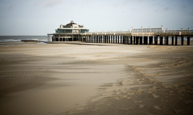 Blankenberge jetty and the beach