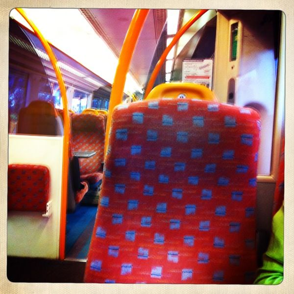 beautiful train seat cover