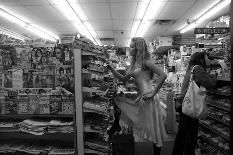 black and white model fashion deli manhattan