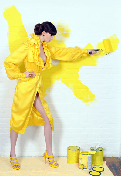 yellow paint by meagan cignoli
