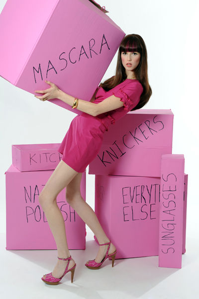 moving packing boxes pink meagan cignoli