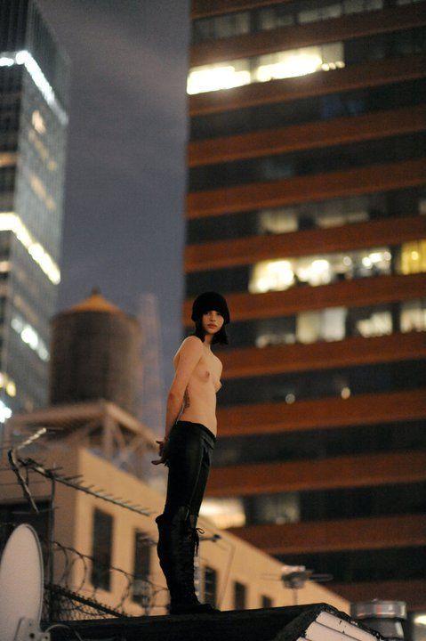 Meagan Cignoli topless model roof nyc