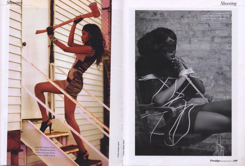 Jaunel Mckenzie supermodel for Prestige Magazine