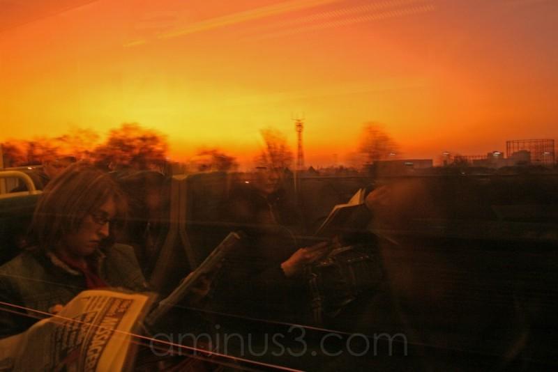 Sunset, Commuters