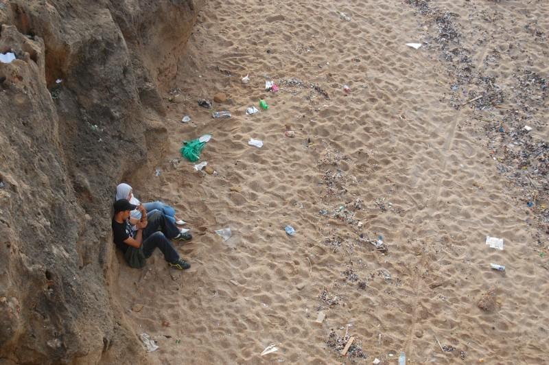 A couple talks on the Rabat beach