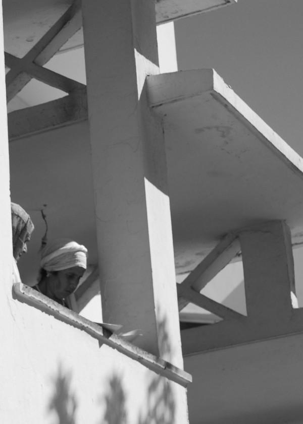 Women on a balcony