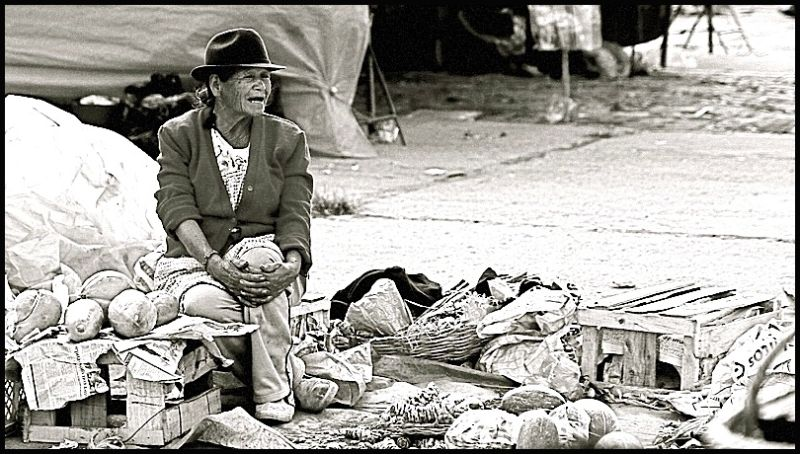 Colombia farmer old woman
