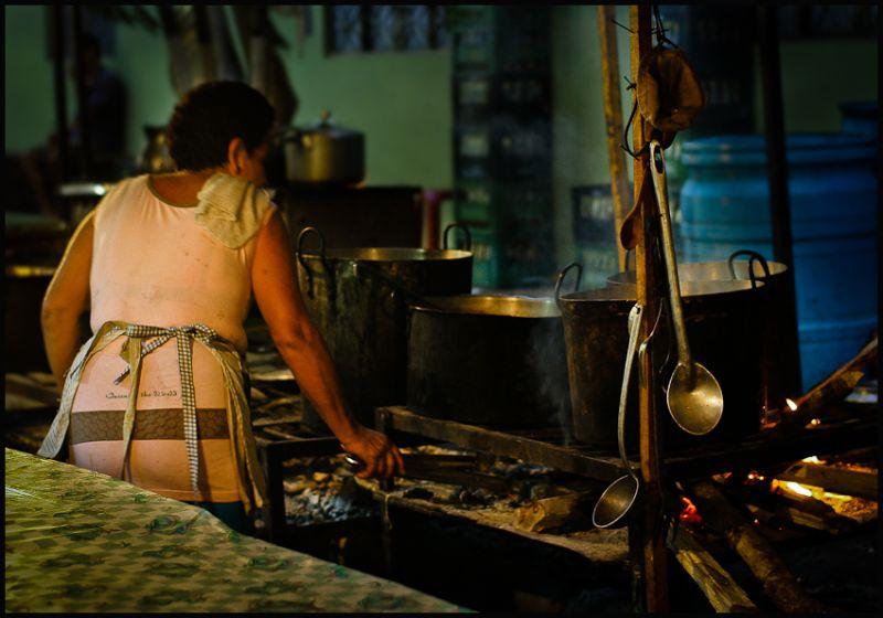 Cocinera de la calle