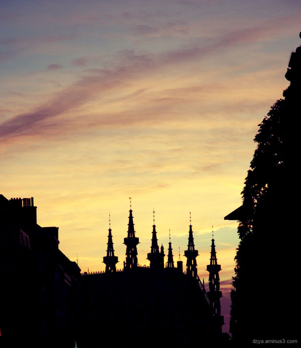 sunset in Leuven
