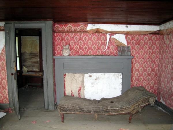 Dilapidated abandoned house interior