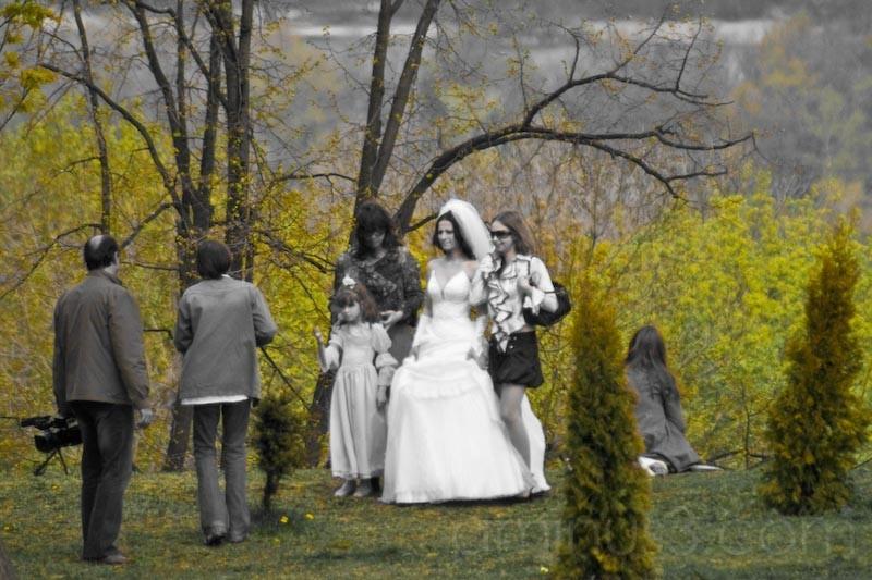 White Wedding with Yelllow