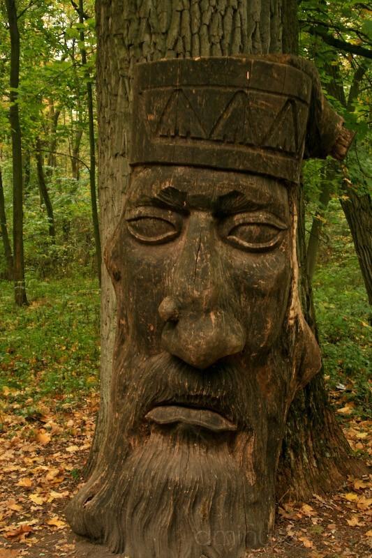 The Woodman Statue, Chernihiv Oblast, Ukraine