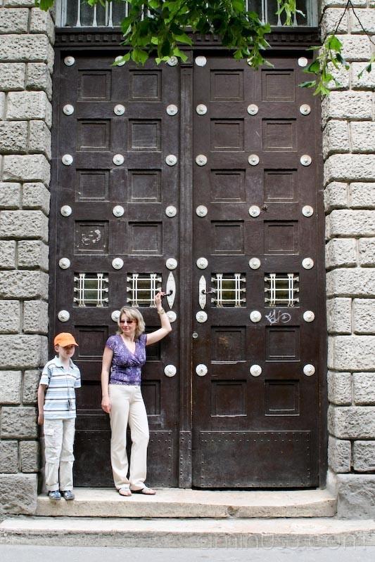 School Doors, Uzgorod, Ukraine.