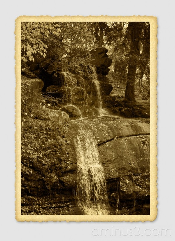 antique waterfall